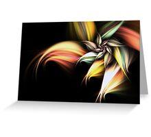 Golden Flower - Abstract Fractal Artwork Greeting Card