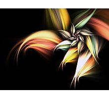 Golden Flower - Abstract Fractal Artwork Photographic Print