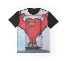 Cute Red Hairy Monster Graphic T-Shirt