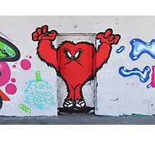 Cute Red Hairy Monster Photographic Print