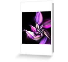 Purple Flower - Abstract Fractal Artwork Greeting Card