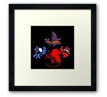 Neon Gensis Evangelion - Three Eva's + NERV Logo Framed Print