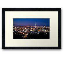 Auckland City from Mt Eden  Framed Print