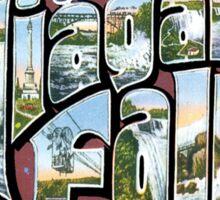Niagara Falls Souvenir Vintage Post Card Sticker