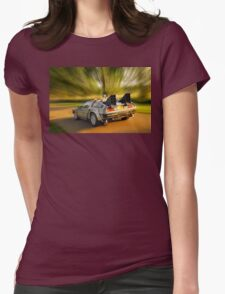 DELOREAN.... Back to the Future. Womens Fitted T-Shirt