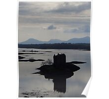 In Silhouette; Castle Stalker Poster