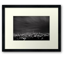 Monochrome Auckland from Mt Eden Framed Print
