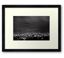 Monochrome Auckland from Mt Eden Framed Print