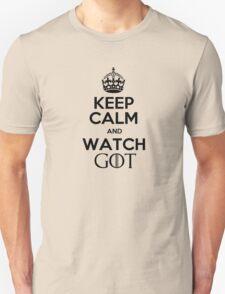 Keep Calm Watch GoT Unisex T-Shirt
