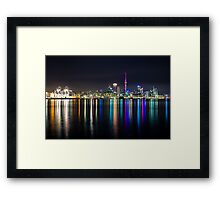 Auckland City Reflections  Framed Print