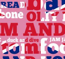 Pink Union Jack, Cockney Rhyming Slang Sticker