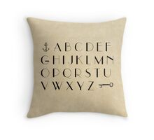 Practice your Letters - Font Study No. 4239 Throw Pillow