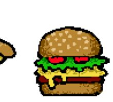 pixel food Sticker