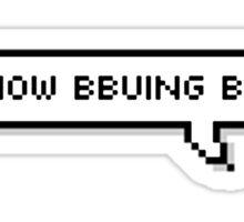 "BTS - V ""You know bbuing bbuing?"" Sticker"