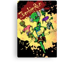 Zombie Run Canvas Print