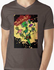 Zombie Run Mens V-Neck T-Shirt