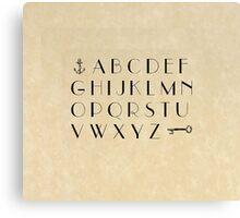 Practice your ABCs - Font Study No. 3492 Canvas Print