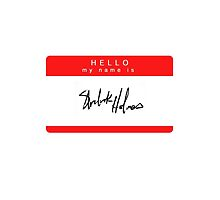 'Hello My Name is Sherlock Holmes' Phone Case by savingholmes
