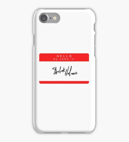 'Hello My Name is Sherlock Holmes' Phone Case iPhone Case/Skin
