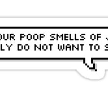"BTS - Suga ""Even if your poop smells of jasmine.."" Sticker"