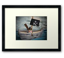 Stormy Seas Pirate Framed Print