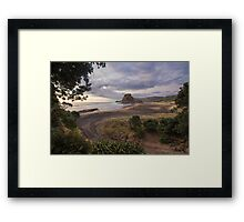 Dusk at Piha Framed Print