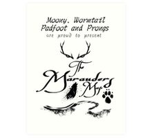 The Marauders Map... Art Print