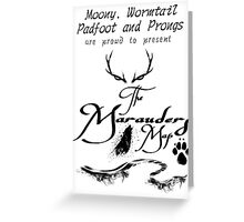 The Marauders Map... Greeting Card