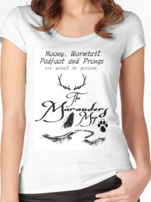 The Marauders Map... Women's Fitted Scoop T-Shirt