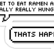 """BTS - Rap Monster """"When you get to eat ramen after feeling really, really hungry..."""" Sticker"""