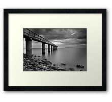 Monochrome Jetty Framed Print