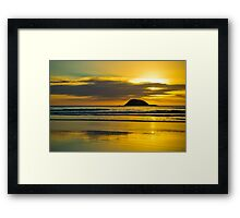Muriwai Sunset  Framed Print