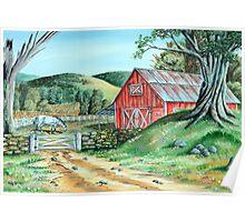 Spring Landscape (on craft foam) Poster