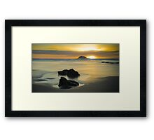Sunset over Muriwai  Framed Print