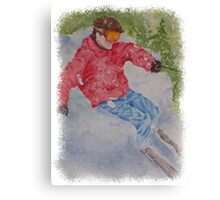 SKIING THE POWDER Canvas Print