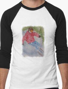 SKIING THE POWDER Men's Baseball ¾ T-Shirt