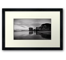 Monochrome Muriwai Framed Print