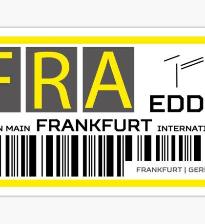 Destination Frankfurt Airport Sticker