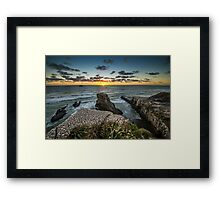 Gannet Colony Sunset Framed Print