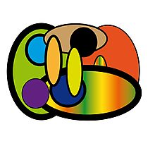 Round Crazy Rainbow Fun Photographic Print