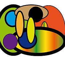 Round Crazy Rainbow Fun by Pixelbuddy