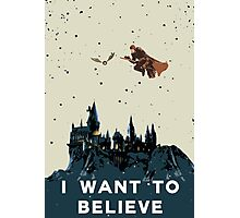 I Want To Believe - Hogwarts Photographic Print
