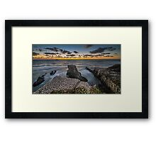 Muriwai Cliff Sunset  Framed Print