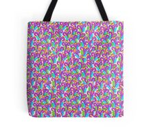Pink VSwirls - Patchwork Tote Bag