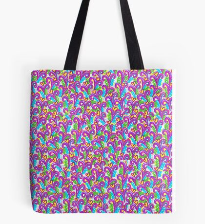 Pink VSwirls - Patchwork Tote Bag