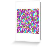 Pink VSwirls Greeting Card