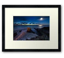 Muriwai under the Moon Framed Print