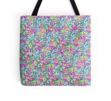 Random VSwirls - Patchwork Tote Bag