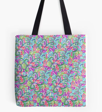 Random VSwirls - Patchwork Tote Bag