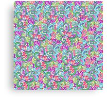 Random VSwirls - Patchwork Canvas Print